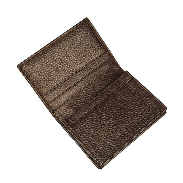100% Genuine Leather Business Name Card Case Large Capacity Cross Crocodile Saffiano Bank Card ID Holder Custom name logo 2