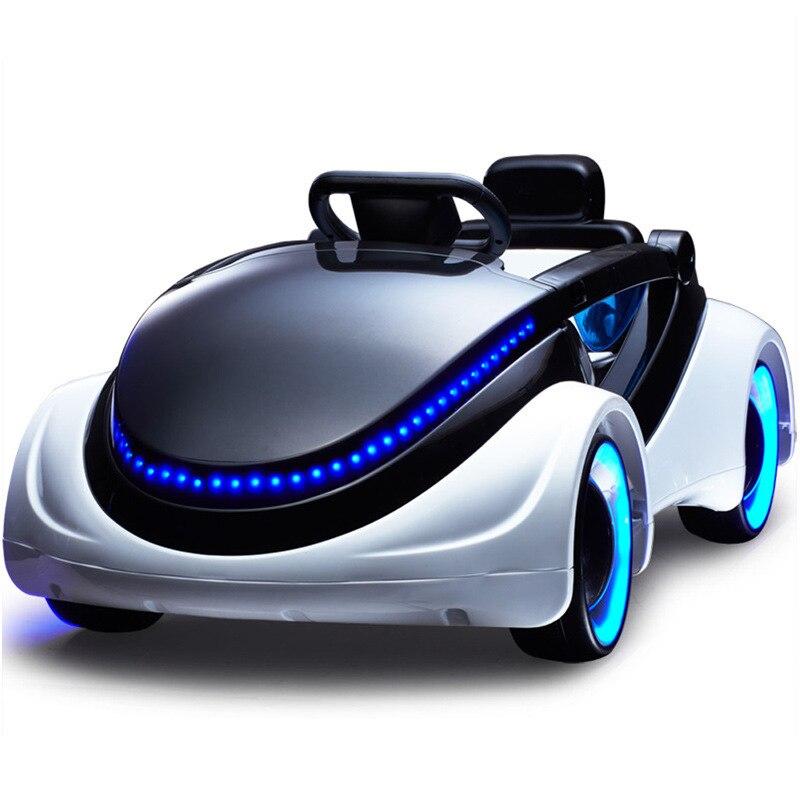 Coche eléctrico de ciencia ficción para niños, cinturón de cuatro ruedas, control remoto, bebé, puede sentarse, coche de juguete, coche eléctrico para bebé - 5
