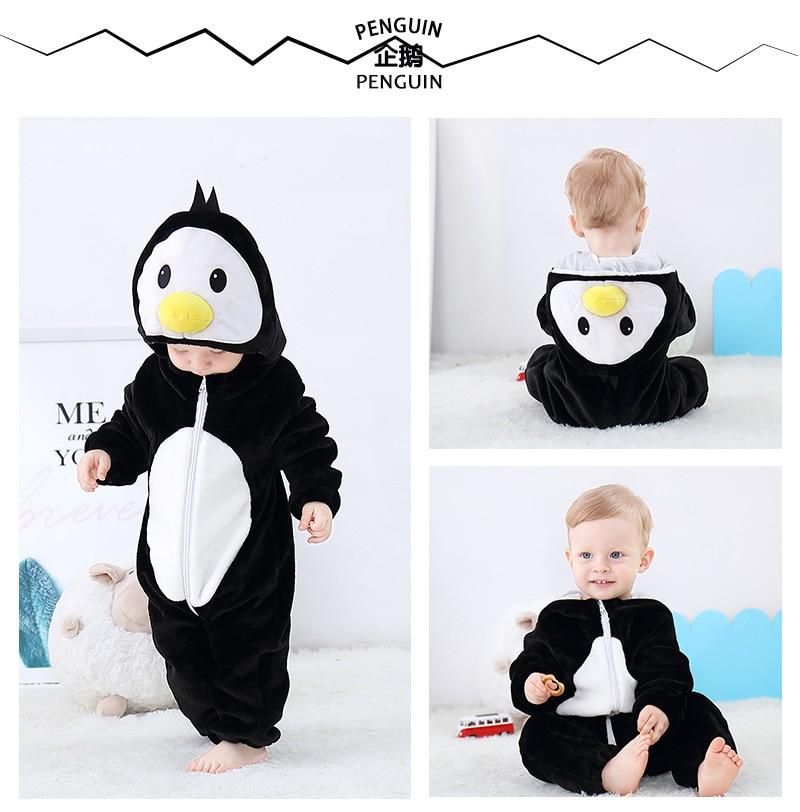 H1cfe8ab5582f42768b69f4125073e547F Cute Cartoon Flannel Baby Rompers Novelty Rabbit Cotton Baby Boys Girls Animal Rompers Stitch Baby's Sets kigurumi New born 2019