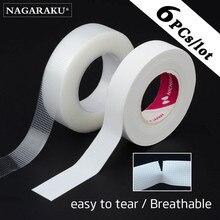 NAGARAKU Eyelash Extension Tape Makeup 6 PCs Breathable Anti-allergy Easy to Tear Micropore Tape Professional Lashes Tape