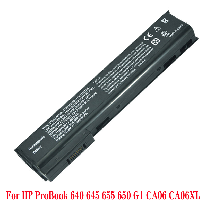 6 Cells Laptop Battery CA09 CA06XL For HP ProBook 650 CA06 640 645 650 655 G1 G0 HSTNN-DB4Y HSTNN-LB4X HSTNN-LB4Y