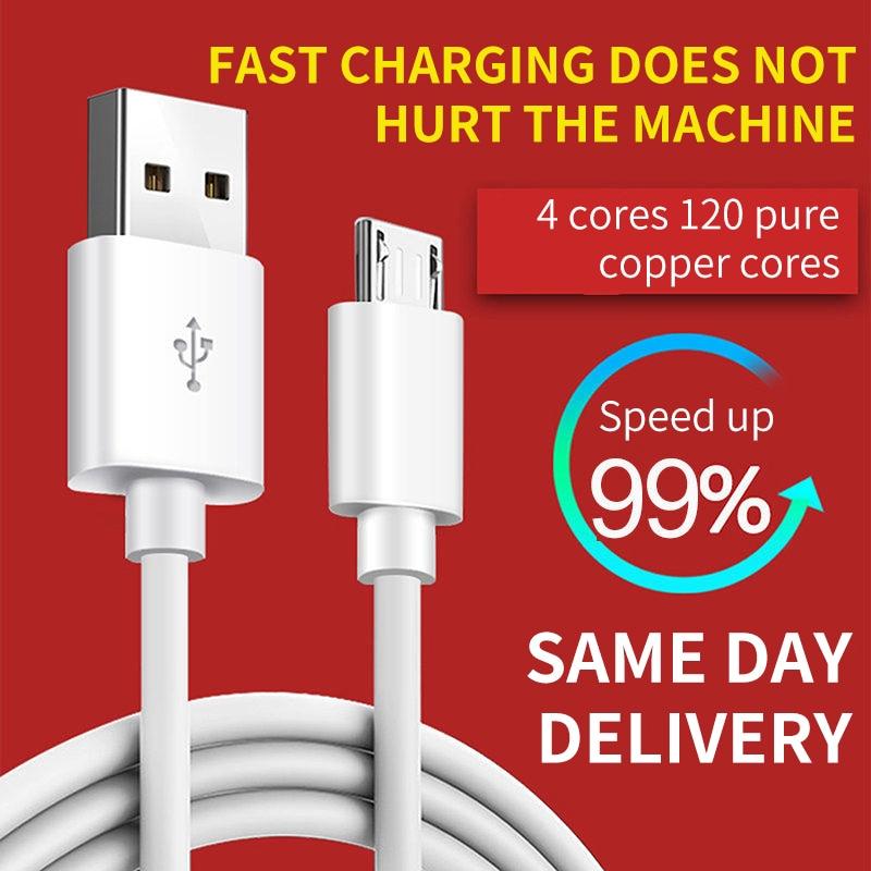 Micro cabo usb 3a carga rápida cabo de dados usb para samsung xiaomi lg tablet android telefone móvel usb cabo de carregamento
