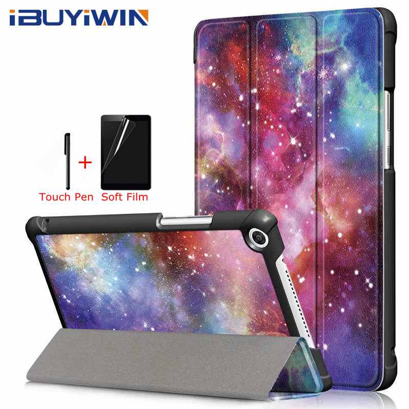 Colorful PU Leather Case for Huawei MediaPad M5 Lite 8.0 JDN2-AL00/W09 Tablet Funda Cover for Huawei Honor Pad T5 8.0 inch+Gifts