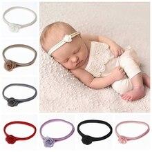 Headwear Hair-Accessories Photo-Props Flower Toddler Newborn Baby Infant Kids Fashion