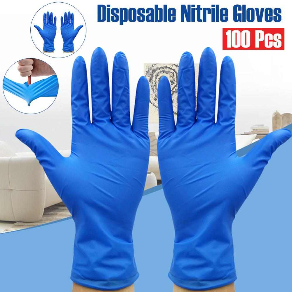 100pcs Disposable Gloves Nitrile Industrial And Medical Exam Grade Nitrile Gloves Prevention Antivirus With Box