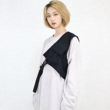 new Solid black Vest Outwear detachable saddle for men women