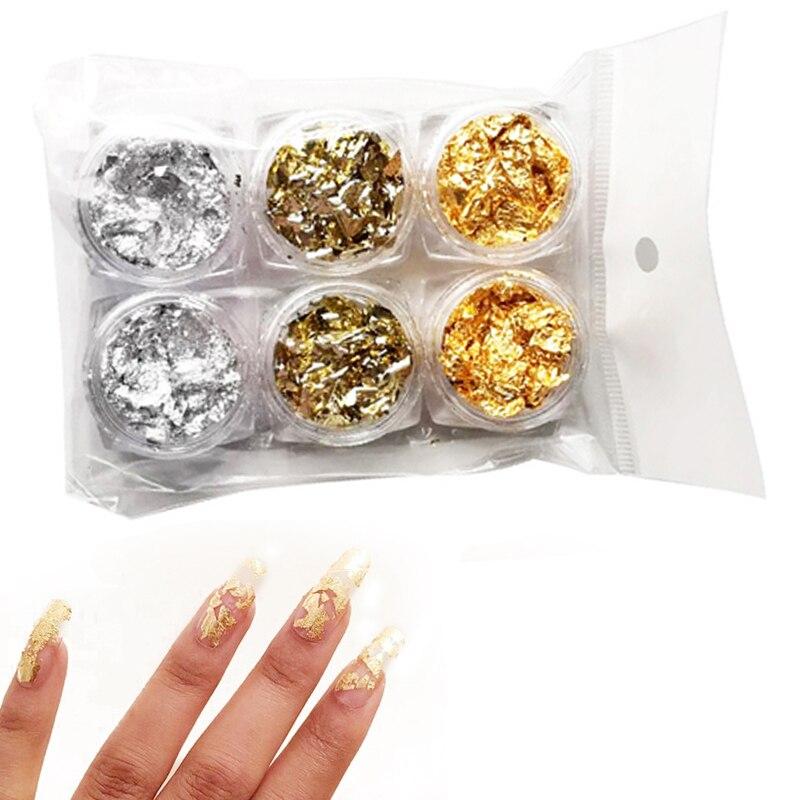 Фольга для ногтей золотистые Серебристые зеленые красочные нестандартные Алюминиевые наклейки для ногтей 3D профессиональные Фотообои