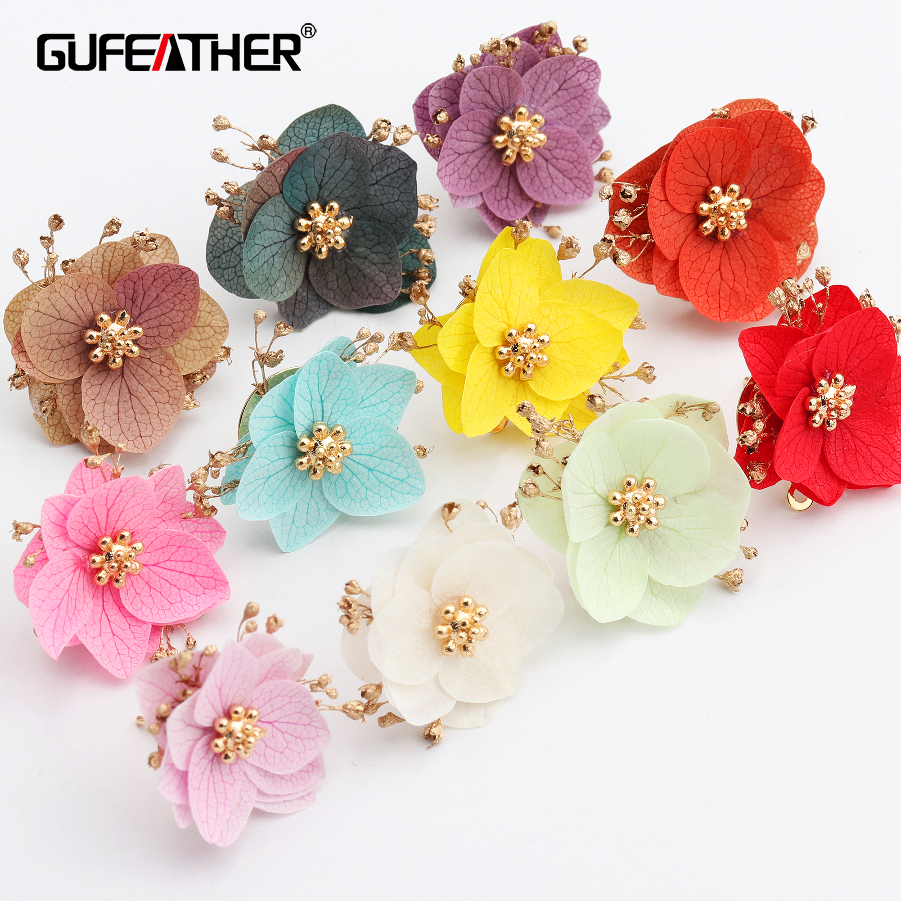 GUFEATHER M602,jewelry Accessories,dried Flower,diy Pendant,jewelry Findings,hand Made,diy Earrings,jewelry Making,6pcs/lot