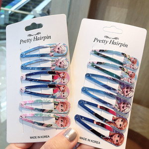 6PCS Wholesale Mix Cartoon Elsa Anna Princess Icon Hair Pins Lovely Good Quality Hair Clips Metal Head Wear Girls BB Party Gifts(China)