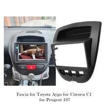 Rádio do carro painel de áudio estéreo quadro montagem fascia para peugeot 107 para toyota aygo para citroen c1 traço instalação bezel guarnição kit