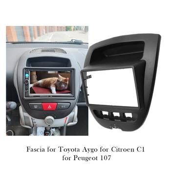 Radio samochodowe Panel samochodowy Stereo mocowanie ramy konsola dla Peugeot 107 dla Toyota Aygo dla Citroen C1 Dash instalacja wykończenie ramek zestaw tanie i dobre opinie GZKTQC CN (pochodzenie) Fascias 0 5kg radio installation for Toyota Aygo For Citroen C1 For Peugeot 107 178*102 178*100 173*98mm