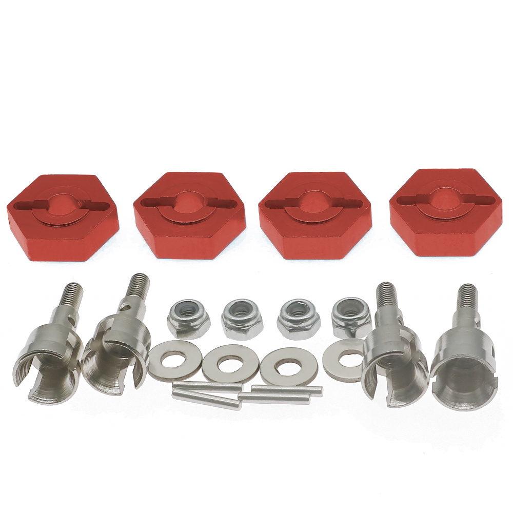 Alloy 12mm <font><b>wheel</b></font> hex adapter&axle assembly for <font><b>rc</b></font> hobby model car <font><b>1</b></font>/<font><b>18</b></font> Wltoys A959 A969 A979 K929 etc Upgraded Hop-Up Parts image