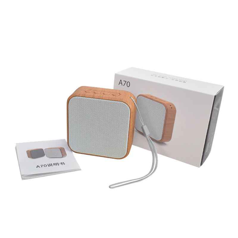 חדש בצבע עץ A70 מיני Bluetooth רמקול Soundbar נייד התוספת TF כרטיס AUX רדיו סאב אלחוטי Bluetooth רמקול