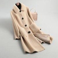 top quality Winter solid faux fur coat women coat vintage Thick Warm long winter coat women teddy jacket lady Lamb tops