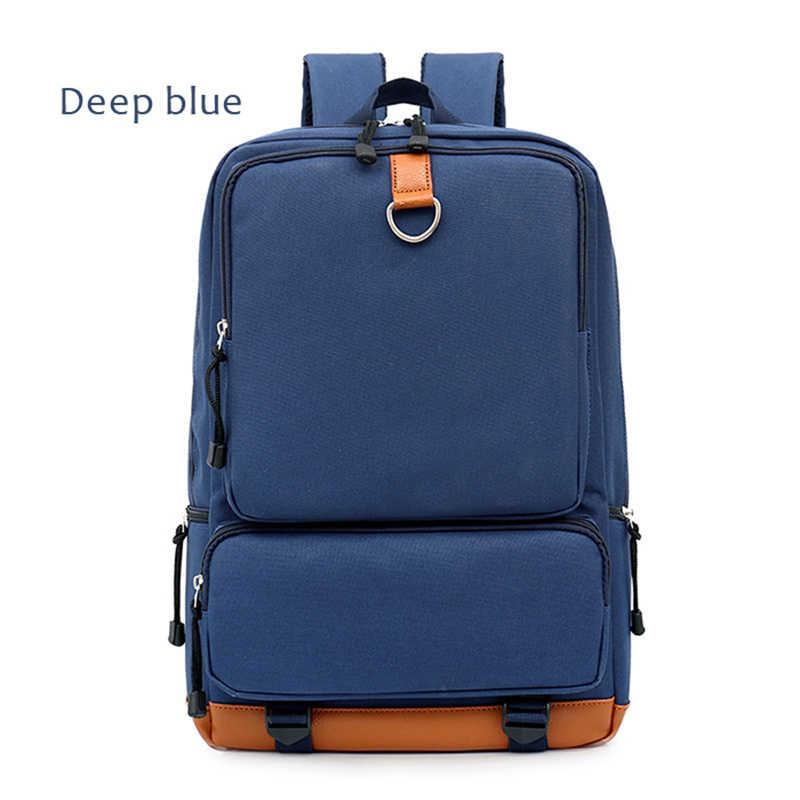 Ba Lô Đi Học Vải Bố Nam Túi Laptop Unisex 15.6 Inch Nylon Du Lịch Trọng Lượng Gói Nam Chống Trộm Mochila рюкзак Prajna
