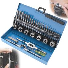 32pcs/set HSS Metric M3-M12 Tap & Die Set 1st 2nd & Plug Finishing for Metalworking