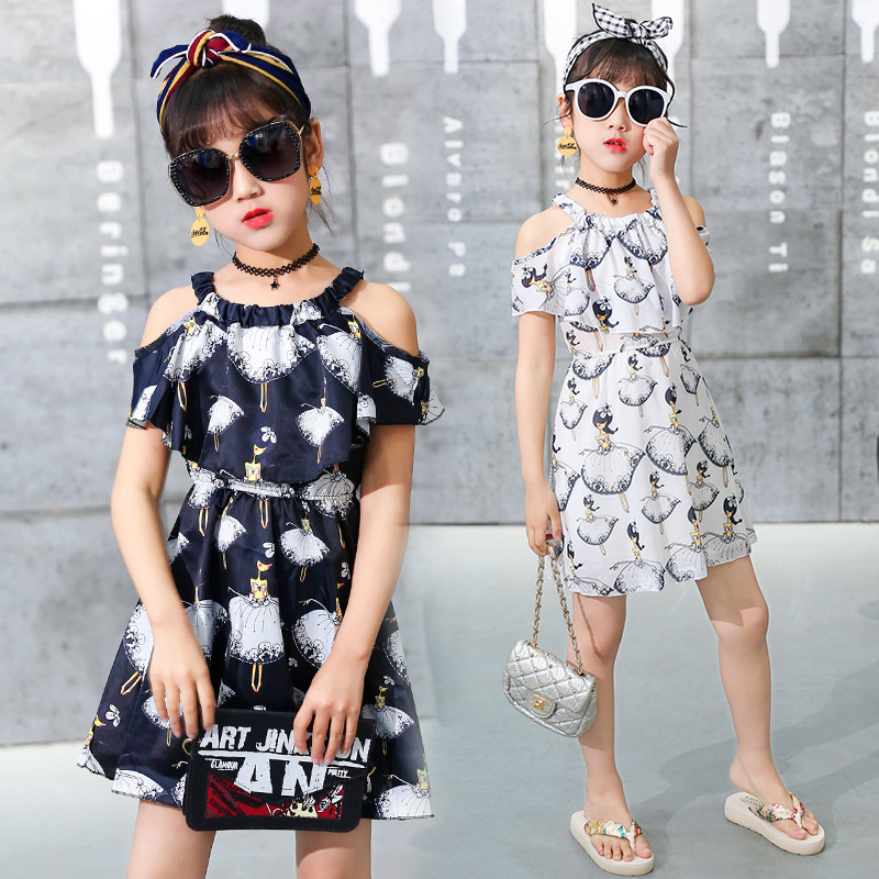 Girl Dress 2021 Summer Floral Pattern Beach Dress For Girl Bohemia Children Dresses Costume For Girls Teen 5 6 7 8 9 10 12 Years