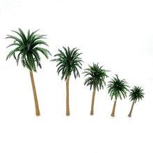 10 pçs plástico coqueiro palmeira planta em miniatura vasos bonsai artesanato micro paisagem diy decoração diorama cenário modelo