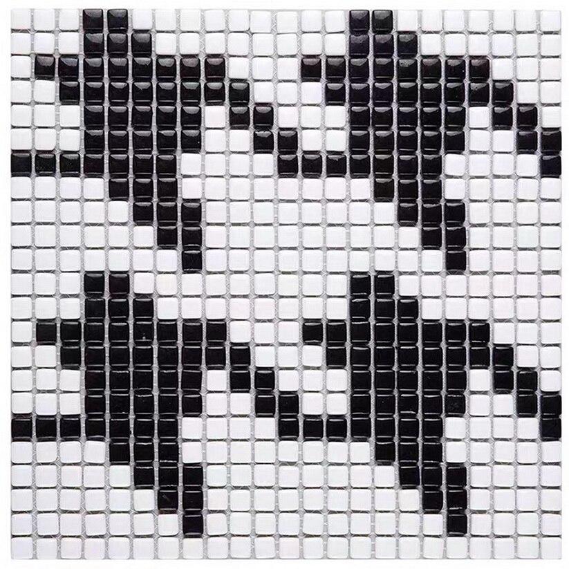 Simplifique o padrão de mosaico cerâmico da