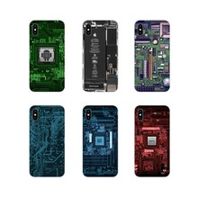 For Apple iPhone X XR XS 11Pro MAX 4S 5S 5C SE 6S 7 8 Plus ipod touch 5 6 Accessories Phone Shell Covers Circuit Board Luxury(China)