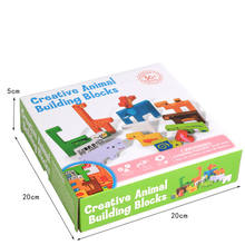 Дети творческие животных строительные блоки деревянная игрушка