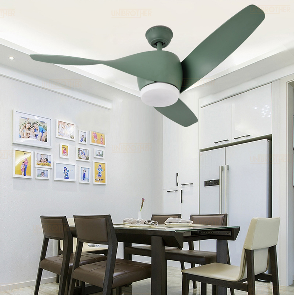 52 inch Wood LED Ceiling Fan with Lights Remote Control <font><b>Inverter</b></font> air <font><b>220</b></font> V Bedroom Wooden Fans Lamp LED Bulbs Ultra-quiet image