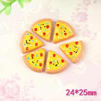 Cabujón de resina Kawaii en forma de Pizza, 10 Uds.