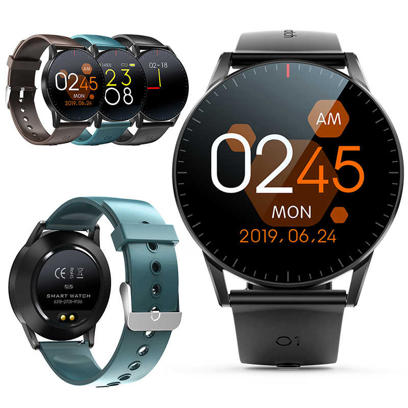 Mr 19 NEW QS09 Smart Watch IP67 Waterproof Heart Rate Sleep Monitoring Fitness Tracker Music Control Sport HD Full Touch Screen