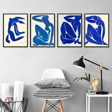 Abstract Home Decoration Canvas Art Painting French Henri Matisse Blue Nude Posters Hd Print Nordic Wall Picture For Living Room french moderns monet to matisse 1850 1950