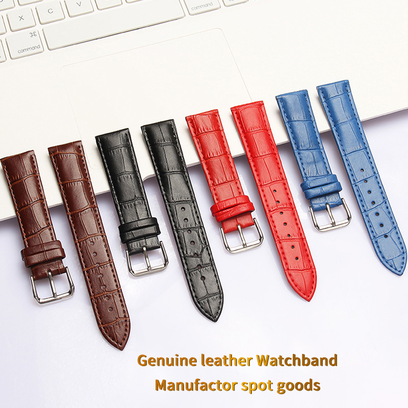 <font><b>Watchband</b></font> Soft Calf Genuine Leather Watch Strap 18mm <font><b>20mm</b></font> 22mm 24mm Watch Band for Tissot <font><b>Seiko</b></font> Accessories Wristband image