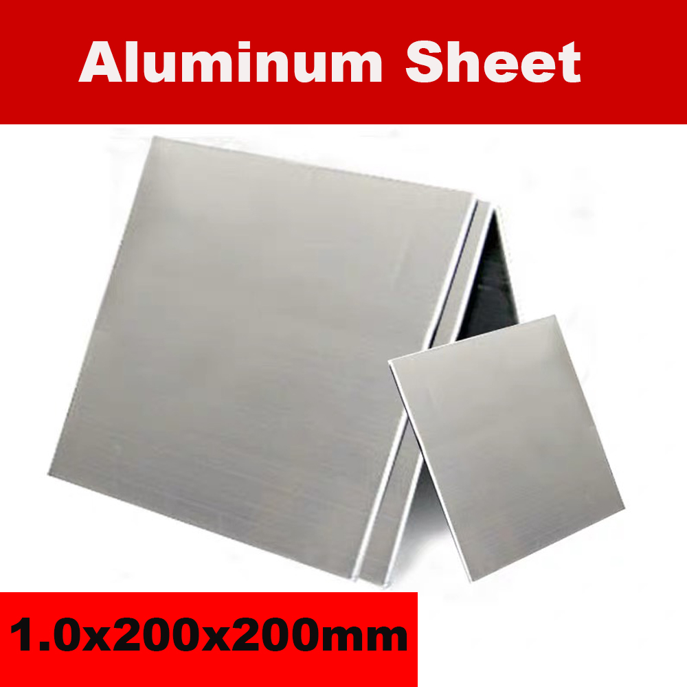 1060 Aluminum Sheet 1.0x200x200mm Aluminum Plate Customized Size DIY Material Laser Cutting CNC Frame Metal Board With Membrane