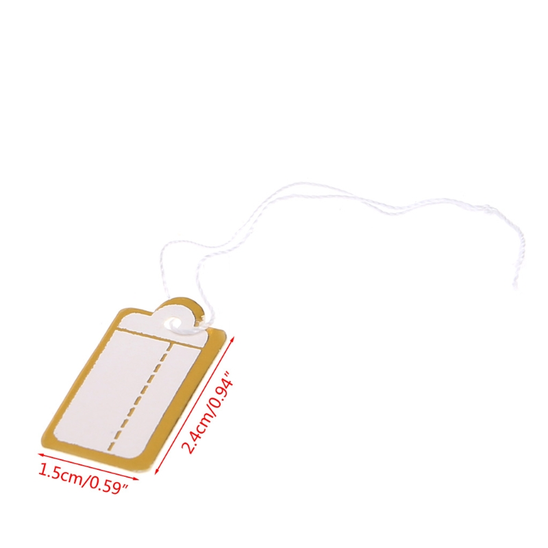 Personalised Hand Written Blank DIY String Gift Label Price Tag Paper Material 95AB