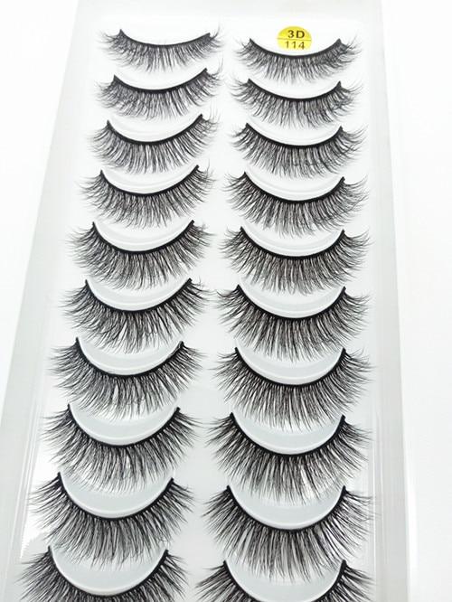 QUXINHAO накладные ресницы 10 пар Накладные ресницы оптом натуральные норковые ресницы cilios maquiagem для макияжа