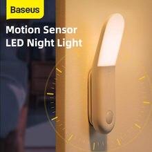 Baseus Führte Induktion Nachtlicht Menschlichen Körper Induktion Nacht Licht Lampe USB Aufladbare LED Licht Motion Sensor Gang Licht