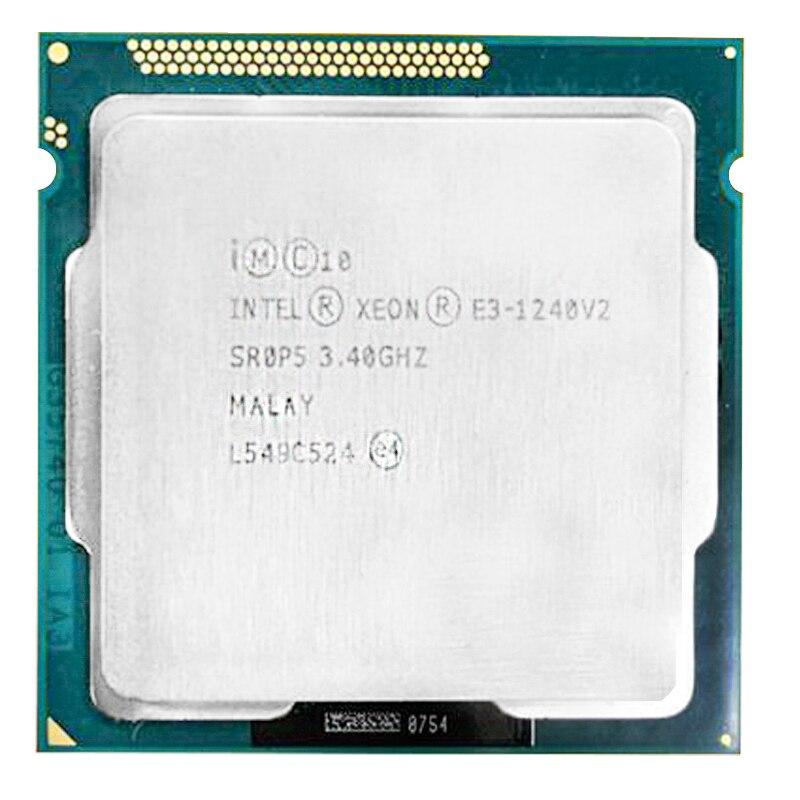 Intel xeon E3 1240 v2 e3 1240 v2 procesor Quad-Core Quad gwint 4 rdzeń 4 gwint 3.40GHz pamięć podręczna 8M SR0P5 LGA1155 E3-1240 v2 CPU