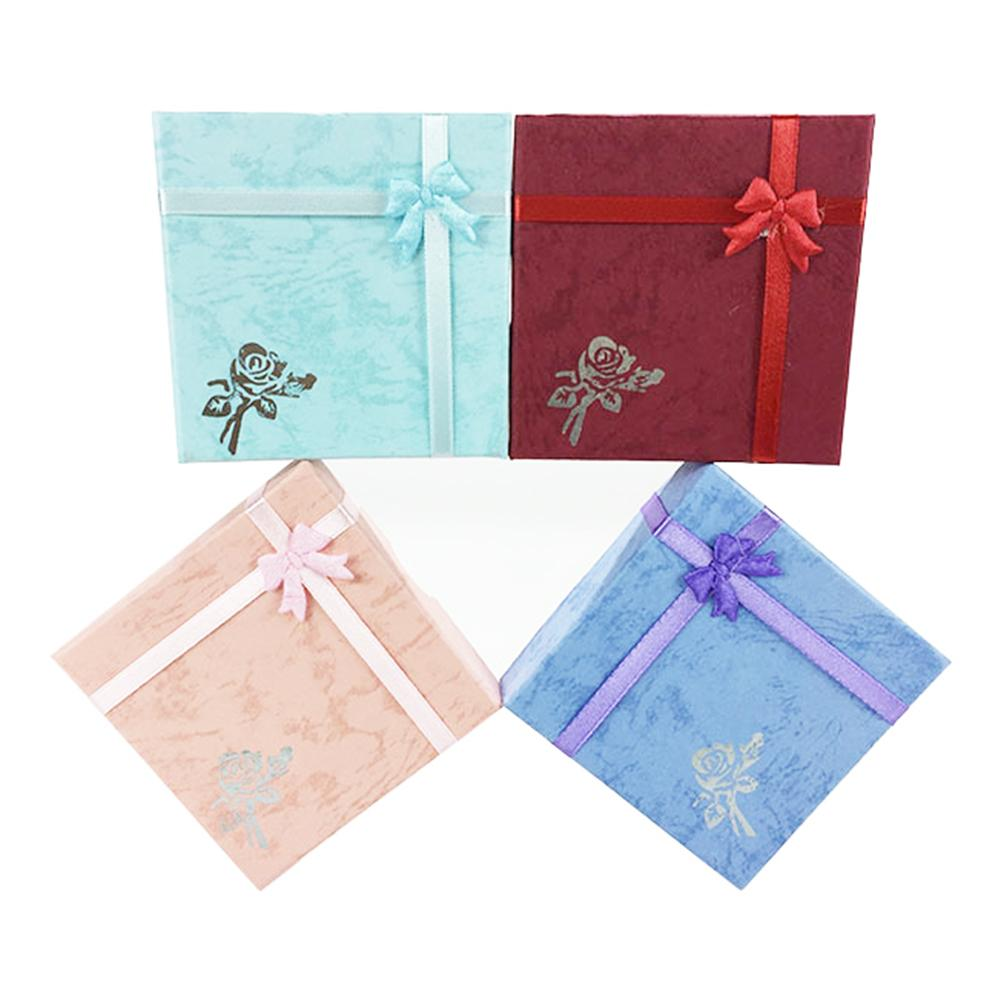 Paper Square Package Case Bowknot Jewelry Necklace Bracelet Present Gift Box Bracelet Boxes Jewelry Boxes Gift Boxes