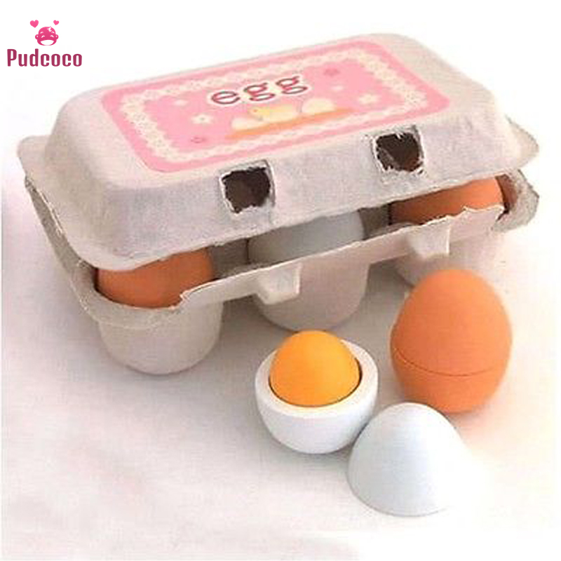 Pudcoco 6PCS Play Kitchen Set For Kids Eggs Yolk Pretend Play Kitchen Food Cooking Children Baby Toy Funny Gift