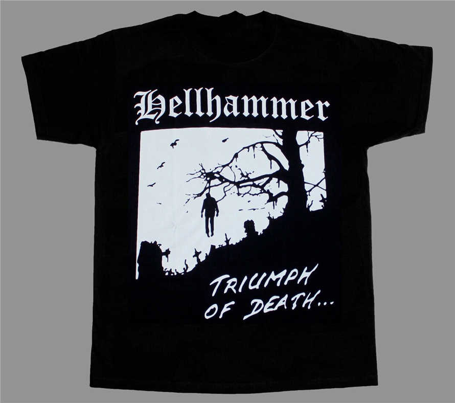 Hellhammer-Triumph Of Death-рубашка-металлическая футболка Thrash Kreator Venom высокого качества