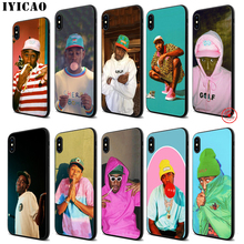IYICAO tyler the creator Soft Black Silicone Case for iPhone 11 Pro Xr Xs Max X or 10 8 7 6 6S Plus 5 5S SE