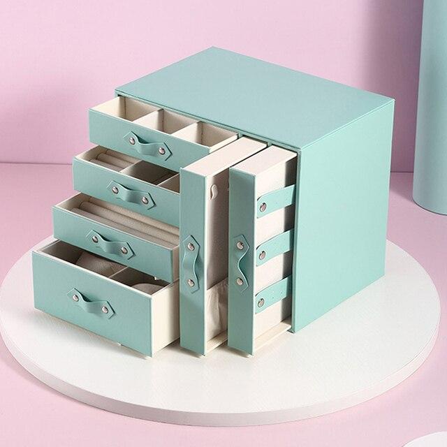 Kolczyki pojemnik na naszyjniki Case Organizer przenośne szminki pudełka na biżuterię akcesoria hurtownia naszyjnik kolekcja dostaw narzędzi