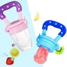 Baby Nipple Fresh Food Fruit Milk Feeding Bottles Nibbler Learn Feeding Drinking Water Straw Handle Teething Pacifier Infant