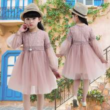 Girls Dress 2020 Spring Lace Flower Long Sleeve Dress for Girls Floral Ball Gown Baby Girl Clothes Kids Dresses for Children floral sweater dress teenage baby girl winter autumn spring dress with long sleeve 2018 children s knitted dress for girls