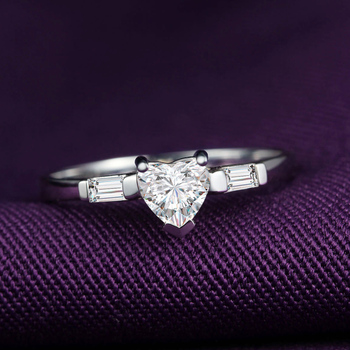 Genuine Heart Shaped Diamond Ring  2