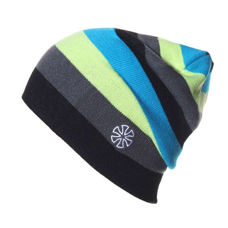 Outdoor Beanies Cap Casual Striped Knitted Hat Snowboarding Skiing Skating Cycling Apparel Accessories|Motorcycle Face Mask| |  - title=
