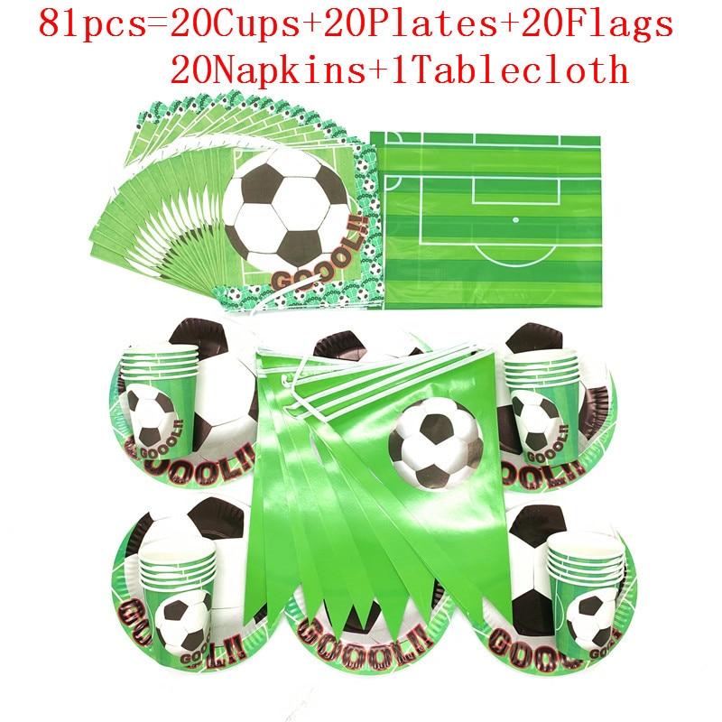 Puchar świata motyw piłka nożna piłka nożna zielone dekoracje na imprezę urodzinową dla dzieci jednorazowe zastawy stołowe zestaw serwetek Cup Plate zaopatrzenie firm
