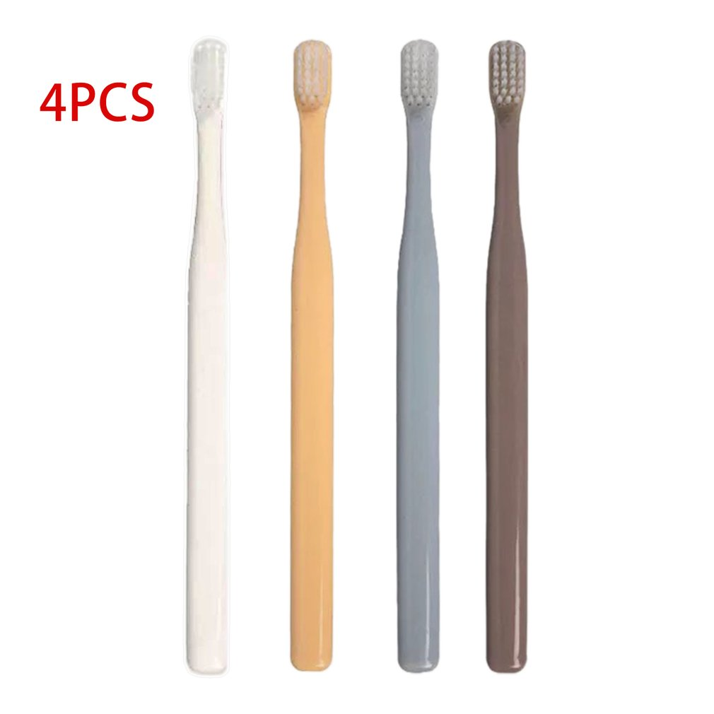 K-8785 Soft Bristle Small Head Toothbrush 4 PCS Multi-Color Tooth Brush Portable Travel Eco-friendly Brush Tooth Care image