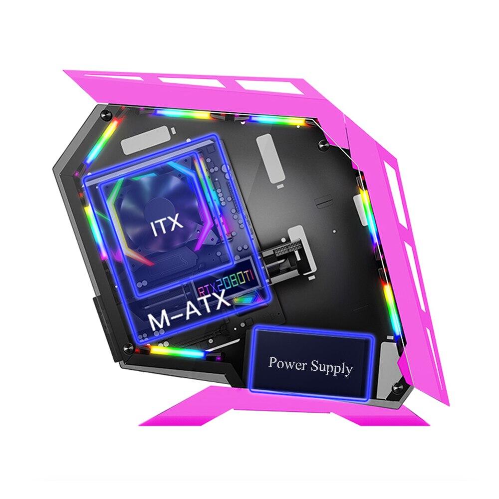 MATX Mohterboard DIY Fan Cooler Desktop Case Custmized Mide Tower Micro-ATX Gaming Computer Cases 2