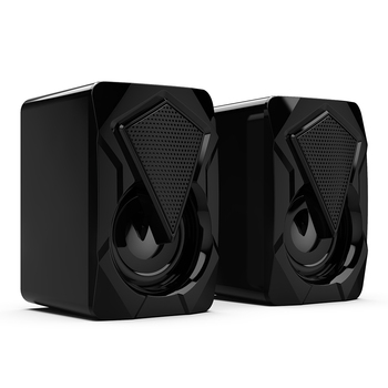 Stereo Sound Surround Loudspeaker X2 RGB Computer Speakers USB Powered 3Wx2 Bass Speakers for Desktop Laptop PC 4