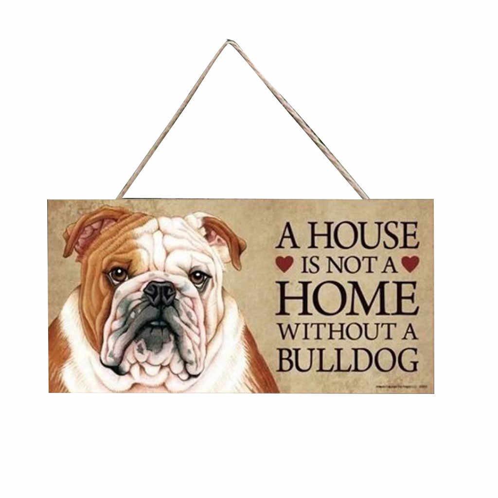 Nieśmiertelniki prostokątny drewniany tag dla zwierząt domowych akcesoria dla psów piękny przyjaźń zwierząt znak tablice rustykalne dekoracje ścienne Home Decoration_RBS