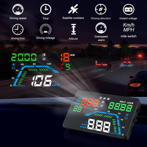 Image 5 - NEW Q7 5.5Inch Auto Car HUD GPS Head Up Display Universal Speedometers Overspeed Warning Dashboard Windshield Projector